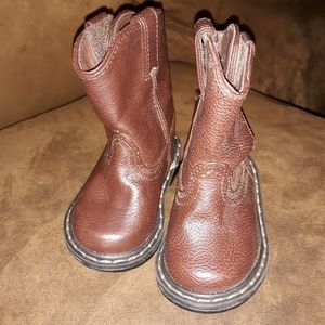 Garanimal Infant Pull On Boys Girls Brown Cowboy Cowgirl Boots Size 6  NEW